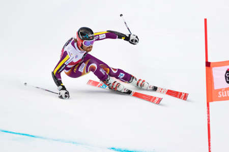 leif: Val Badia, Italy 21 December 2014. HAUGEN Leif Kristian (Nor) competing in the Audi Fis Alpine Skiing World Cup Men's Giant Slalom on the Gran Risa Course in the dolomite mountain range. Editorial