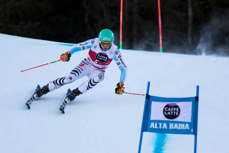 felix: Val Badia, Italy 21 December 2014. NEUREUTHER Felix (Ger) competing in the Audi Fis Alpine Skiing World Cup Men's Giant Slalom on the Gran Risa Course in the dolomite mountain range. Editorial