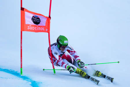 engel: Val Badia, Italy 21 December 2014. LEITINGER Roland (Aut) competing in the Audi Fis Alpine Skiing World Cup Men's Giant Slalom on the Gran Risa Course in the dolomite mountain range.