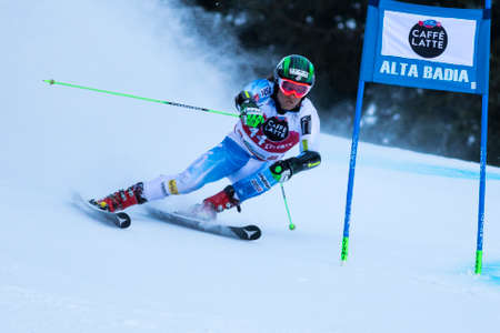 engel: Val Badia, Italy 21 December 2014. ENGEL Mark (Usa) competing in the Audi Fis Alpine Skiing World Cup Men's Giant Slalom on the Gran Risa Course in the dolomite mountain range. Editorial