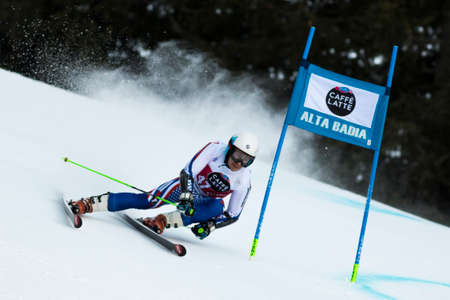 rus: Val Badia, Italy 21 December 2014. ANDRIENKO Aleksander (Rus) competing in the Audi Fis Alpine Skiing World Cup Men's Giant Slalom on the Gran Risa Course in the dolomite mountain range.