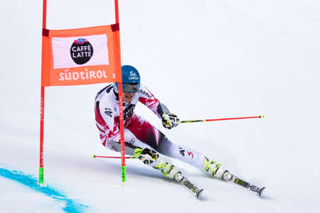 fis: Val Badia, Italy 21 December 2014. MAYER Matthias (Aut) competing in the Audi Fis Alpine Skiing World Cup Men's Giant Slalom on the Gran Risa Course in the dolomite mountain range. Editoriali