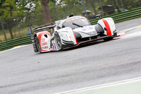 enzo: Imola, Italy May 16, 2015: Nissan of Thiriet By LNT Ginetta Team, driven by Michael Simpson in action During The European Le Mans Series - 4 Hours of Imola Autodromo Dino Ferrari Enzo on May 16, 2015 in Imola, Italy.