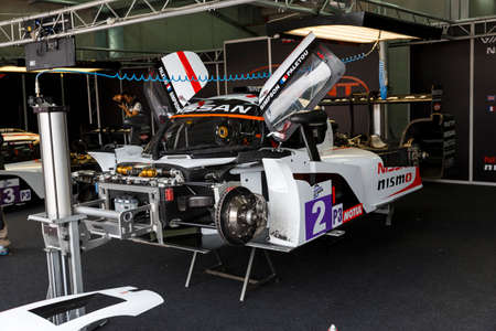 simpson: Imola, Italy May 16, 2015: Nissan of Thiriet By LNT Ginetta Team, driven by Michael Simpson in action During The European Le Mans Series - 4 Hours of Imola Autodromo Dino Ferrari Enzo on May 16, 2015 in Imola, Italy.