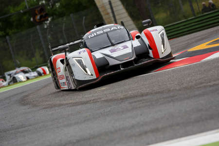 enzo: Imola, Italy May 16, 2015: Nissan of Thiriet By LNT Ginetta Team, driven by Chris Hoy - Charlie Robertson in action During The European Le Mans Series - 4 Hours of Imola Autodromo Dino Ferrari Enzo on May 16, 2015 in Imola, Italy .