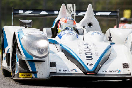 greaves: Imola, Italy May 16, 2015: Gibson 015S Nissan of Greaves Motorsport Team, driven by Johnny Mowlem in action During The European Le Mans Series - 4 Hours of Imola Autodromo Dino Ferrari Enzo on May 16, 2015 in Imola, Italy.