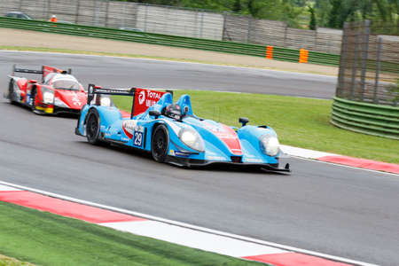 imola: Imola, Italy May 16, 2015: Morgan - Nissan of Pegasus Racing Team, driven by The Roussel - David Cheng - Julien Schell in action During The European Le Mans Series - 4 Hours of Imola Autodromo Dino Ferrari Enzo on May 16, 2015 Imola, Italy.