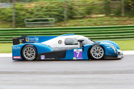enzo: Imola, Italy May 16, 2015: Ginetta Nissan of University Of Bolton Team, driven by Rob Garofall and Morten Dons in action During The European Le Mans Series - 4 Hours of Imola Autodromo Dino Ferrari Enzo on May 16, 2015 in Imola, Italy .