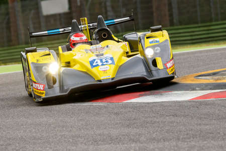 imola: Imola, Italy May 16, 2015: 03R Oreca - Nissan of Ibanez Racing Team, driven by Jos Ibanez - Ivan Bellarosa in action During The European Le Mans Series - 4 Hours of Imola Autodromo Dino Ferrari Enzo on May 16, 2015 in Imola, Italy. Editorial
