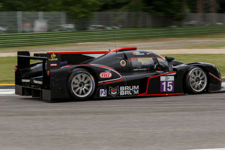 konstantin: Imola, Italy May 16, 2015: Ginetta Nissan of SVK By Speed Factory Team, driven by Konstantin Calko - Jesus Fuster and Dainius Matijosaitis in action During The European Le Mans Series - 4 Hours of Imola Autodromo Dino Ferrari Enzo on May 16, 2015 in Imola Editorial