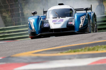 rob: Imola, Italy May 16, 2015: Ginetta Nissan of University Of Bolton Team, driven by Rob Garofall and Morten Dons in action During The European Le Mans Series - 4 Hours of Imola Autodromo Dino Ferrari Enzo on May 16, 2015 in Imola, Italy .