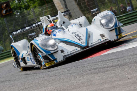 chicharrones: Imola, Italy May 16, 2015: Gibson 015S Nissan of Greaves Motorsport Team, driven by Johnny Mowlem in action During The European Le Mans Series - 4 Hours of Imola Autodromo Dino Ferrari Enzo on May 16, 2015 in Imola, Italy.