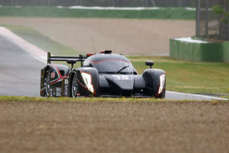 enzo: Imola, Italy May 16, 2015: Ginetta Nissan of SVK By Speed Factory Team, driven by Konstantin Calko - Jesus Fuster and Dainius Matijosaitis in action During The European Le Mans Series - 4 Hours of Imola Autodromo Dino Ferrari Enzo on May 16, 2015 in Imola Editorial