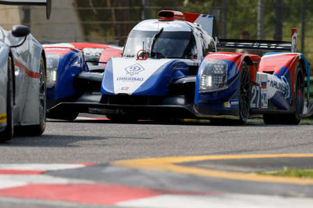 imola: Imola, Italy May 16, 2015: Nissan BR01 of SMP Racing Team, driven by Maurizio Mediani - David Markozov - Nicolas Minassian in action During The European Le Mans Series - 4 Hours of Imola Autodromo Dino Ferrari Enzo on May 16, 2015 in Imola , Italy.