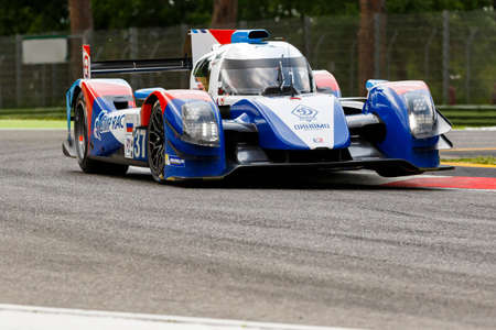 mikhail: Imola, Italy May 16, 2015: Nissan BR01 of SMP Racing Team, driven by Mikhail Aleshin - Kirill Ladygin - Anton Ladygin in action During The European Le Mans Series - 4 Hours of Imola Autodromo Dino Ferrari Enzo on May 16, 2015 in Imola , Italy.