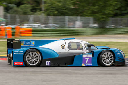 imola: Imola, Italy May 16, 2015: Ginetta Nissan of University Of Bolton Team, driven by Rob Garofall and Morten Dons in action During The European Le Mans Series - 4 Hours of Imola Autodromo Dino Ferrari Enzo on May 16, 2015 in Imola, Italy .