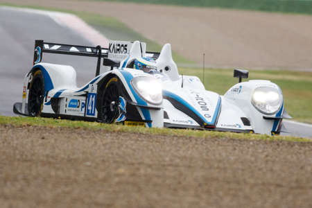 greaves: Imola, Italy - May 16, 2015: Gibson 015S Nissan of Greaves Motorsport Team, driven by Johnny Mowlem in action During The European Le Mans Series - 4 Hours of Imola Autodromo Dino Ferrari Enzo on May 16, 2015 in Imola, Italy.