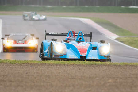 enzo: Imola, Italy- May 16, 2015: Morgan - Nissan of Pegasus Racing Team, driven by The Roussel - David Cheng - Julien Schell in action During The European Le Mans Series - 4 Hours of Imola Autodromo Dino Ferrari Enzo on May 16, 2015 in Imola, Italy. Editorial