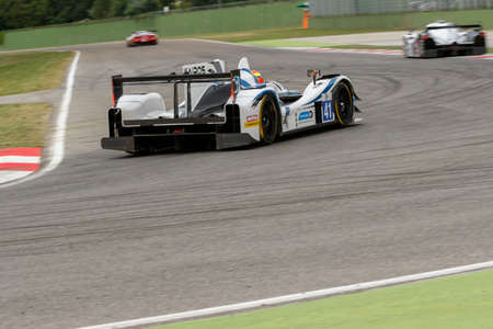 enzo: Imola, Italy - May 16, 2015: Gibson 015S Nissan of Greaves Motorsport Team, driven by Johnny Mowlem in action During The European Le Mans Series - 4 Hours of Imola Autodromo Dino Ferrari Enzo on May 16, 2015 in Imola, Italy.