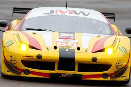 samuel: Imola, Italy May 16, 2015: Ferrari F458 Italy of JMW Motorsport Team, driven by George Richardson - Robert Smith - Samuel Tordoff in action During The European Le Mans Series - 4 Hours of Imola Autodromo Dino Ferrari Enzo on May 16, 2015 Imola, Italy. Editorial