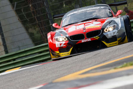 imola: Imola, Italy May 16, 2015: BMW Z4 GT3 of TDS Racing Team, driven by Franck Perera - Dino Lunardi - Dermot Eric in action During The European Le Mans Series - 4 Hours of Imola Autodromo Dino Ferrari Enzo on May 16, 2015 Imola, Italy.