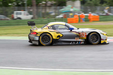 hassid: Imola, Italy May 16, 2015: BMW Z4 of BMW Team MarcVDS Team, driven by Andy Priaulx - Henry Hassid - Jesse Krohn in action During The European Le Mans Series - 4 Hours of Imola Autodromo Dino Ferrari Enzo on May 16, 2015 Imola, Italy.