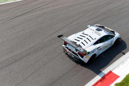 gallardo: Monza, Italy - May 30, 2015: Lamborghini Gallardo of Imperiale Racing team, driven  by BABINI Fabio - CECCATO Andrea during the C.I. Franturismo - Race in Autodromo Nazionale di Monza Circuit on May 30, 2015 in Monza, Italy.
