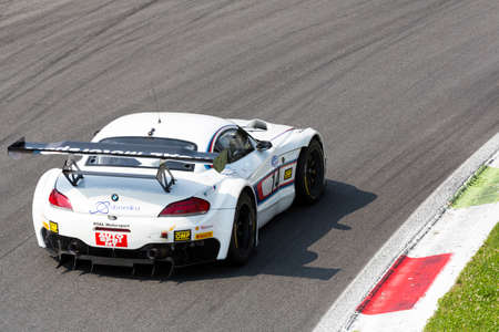 monza: Monza, Italy - May 30, 2015: Bmw Z4 of Roal Motorsport team, driven  by Cerruti Michela) during the C.I. Franturismo - Race in Autodromo Nazionale di Monza Circuit on May 30, 2015 in Monza, Italy. Editorial