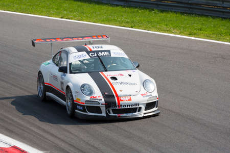 monza: Monza, Italy - May 30, 2015: ............ of ........................... team, driven  by ................ during the C.I. Franturismo - Race in Autodromo Nazionale di Monza Circuit on May 30, 2015 in Monza, Italy.