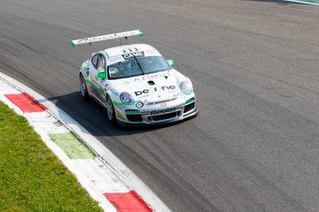 selva: Monza, Italy - May 30, 2015: Porsche 997 of Ebimotors team, driven  by MAINO Tommaso - SELVA Livio during the C.I. Franturismo - Race in Autodromo Nazionale di Monza Circuit on May 30, 2015 in Monza, Italy. Editorial