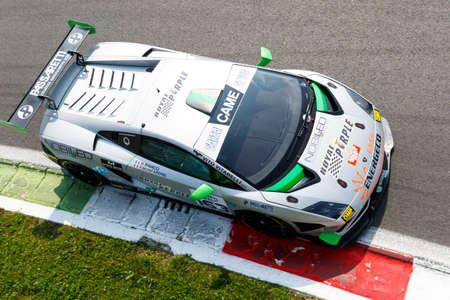 gallardo: Monza, Italy - May 30, 2015: Lamborghini Gallardo of Imperiale Racing team, driven  by BIANCO Riccardo - MONFARDINI Federico during the C.I. Franturismo - Race in Autodromo Nazionale di Monza Circuit on May 30, 2015 in Monza, Italy.