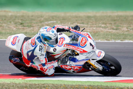 Misano Adriatico, Italy - June 20: Honda CBR1000RR SP of PATA Honda World Superbike Team, driven by GUINTOLI Sylvain in action during the Superbike Free Practice 4th Session during the FIM Superbike World Championship - Race at Misano World Circuit on Jun