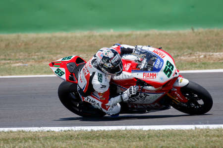 superbike: Misano Adriatico, Italy - June 20: Ducati Panigale R of Althea Racing Team, driven by CANEPA Niccolò in action during the Superbike Free Practice 4th Session during the FIM Superbike World Championship - Race at Misano World Circuit on June 20, 2015 in M
