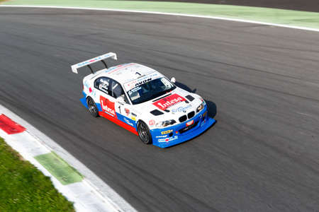 bmw: Monza, Italy - May 30, 2015: BMW M3 E46 of W&D RACING TEAM team, driven  by MELONI Paolo - TRESOLDI Massimiliano during the C.I. Turismo Endurance - Race in Autodromo Nazionale di Monza Circuit on May 30, 2015 in Monza, Italy.