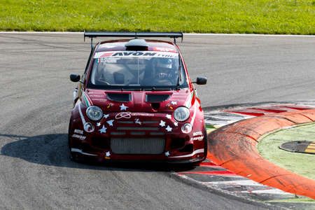 mario: Monza, Italy - May 30, 2015: Fiat 500 Abarth of ROMEO FERRARIS team, driven  by MILANI Matteo - FERRARIS Mario during the C.I. Turismo Endurance - Race in Autodromo Nazionale di Monza Circuit on May 30, 2015 in Monza, Italy. Editorial