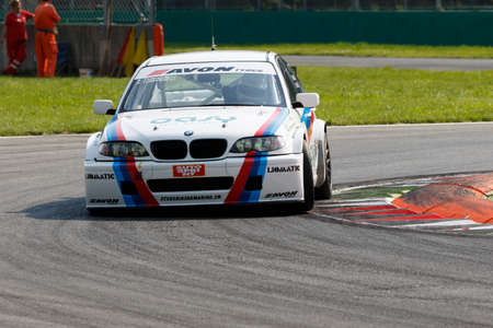 alberto: Monza, Italy - May 30, 2015: Bmw 320i E46 of Zerocinque team, driven  by  FUMAGALLI Alberto e Riccardo during the C.I. Turismo Endurance - Race in Autodromo Nazionale di Monza Circuit on May 30, 2015 in Monza, Italy.