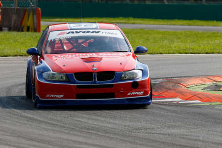 monza: Monza, Italy - May 30, 2015: Bmw E90 of Hexagon Moto team, driven  by MONTALI Fabrizio during the C.I. Turismo Endurance - Race in Autodromo Nazionale di Monza Circuit on May 30, 2015 in Monza, Italy. Editorial