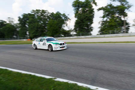 monza: Monza, Italy - May 30, 2015: Bmw 320i of  Promotorsport team, driven  by ZANIN Filippo Maria during the C.I. Turismo Endurance - Race in Autodromo Nazionale di Monza Circuit on May 30, 2015 in Monza, Italy. Editorial