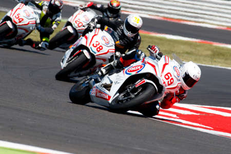 Misano Adriatico, Italy - June 21: Honda CBR 650F of Josh Harland Racing Team, driven by HARLAND Joshua in action during the European Junior Cup Race at Misano World Circuit on June 21, 2015 in Misano Adriatico, Italy.