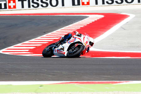adriatico: Misano Adriatico, Italy - June 21: Honda CBR 650F of RBC Team, driven by PEREZ Mika in action during the European Junior Cup  the FIM Superbike World Championship - Race at Misano World Circuit on June 21, 2015 in Misano Adriatico, Italy. Editorial