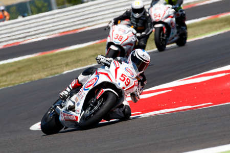 dorian: Misano Adriatico, Italy - June 21: Honda CBR 650F of Team Laville Mi&Do, driven by LAVILLE Dorian in action during the European Junior Cup Race at Misano World Circuit on June 21, 2015 in Misano Adriatico, Italy. Editorial