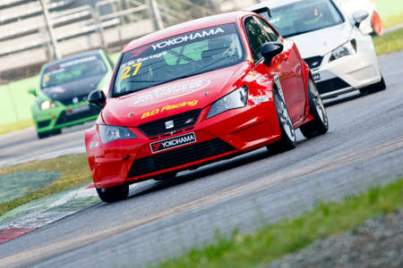 monza: Monza, Italy - May 30, 2015: Seat Ibizia – BD Racing Team, driven BERTAGNI Marcello during the Seat Ibiza Cup - Race in Autodromo Nazionale di Monza Circuit on May 30, 2015 in Monza, Italy. Editorial