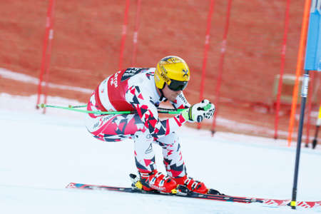 franz: Val Gardena, Italy 18 December 2015. FRANZ Max (Aut) competing in the Audi FIS Alpine Skiing World Cup Super-G race on the Saslong course in the Dolomite mountain range.