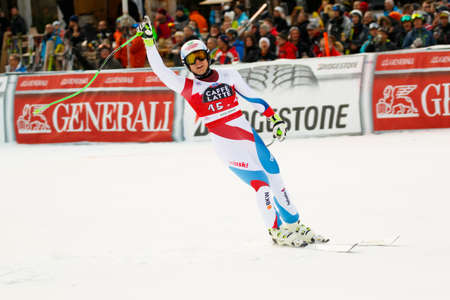 weber: Val Gardena, Italy 18 December 2015. WEBER Ralph (Sui) competing in the Audi FIS Alpine Skiing World Cup Super-G race on the Saslong course in the Dolomite mountain range.