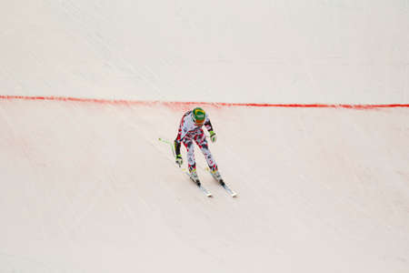 klaus: Val Gardena, Italy 18 December 2015. KROELL Klaus (Aut) competing in the Audi FIS Alpine Skiing World Cup Super-G race on the Saslong course in the Dolomite mountain range. Editorial