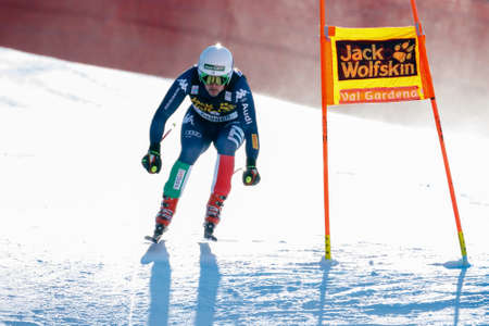 gardena: Val Gardena, Italy 19 December 2015. Fill Peter (Ita) competing in the Audi Fis Alpine Skiing World Cup Mens Downhill Race on the Saslong Course in the dolomite mountain range.