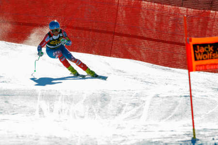 gardena: Val Gardena, Italy 19 December 2015. Nyman Steven (Usa) competing in the Audi Fis Alpine Skiing World Cup Mens Downhill Race on the Saslong Course in the dolomite mountain range.