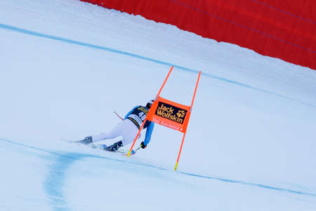 klaus: Val Gardena, Italy 19 December 2015.  Brandner Klaus (Ger) competing in the Audi Fis Alpine Skiing World Cup Mens Downhill Race on the Saslong Course in the dolomite mountain rang
