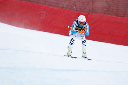 gardena: Val Gardena, Italy 19 December 2015.  Ferstl Josef (Ger) competing in the Audi Fis Alpine Skiing World Cup Mens Downhill Race on the Saslong Course in the dolomite mountain rang