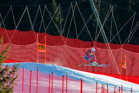 gardena: Val Gardena, Italy 19 December 2015.  Weibrecht Andrew (Usa) competing in the Audi Fis Alpine Skiing World Cup Mens Downhill Race on the Saslong Course in the dolomite mountain rang